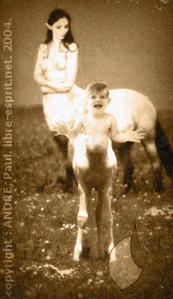 Bébé centaure et sa maman